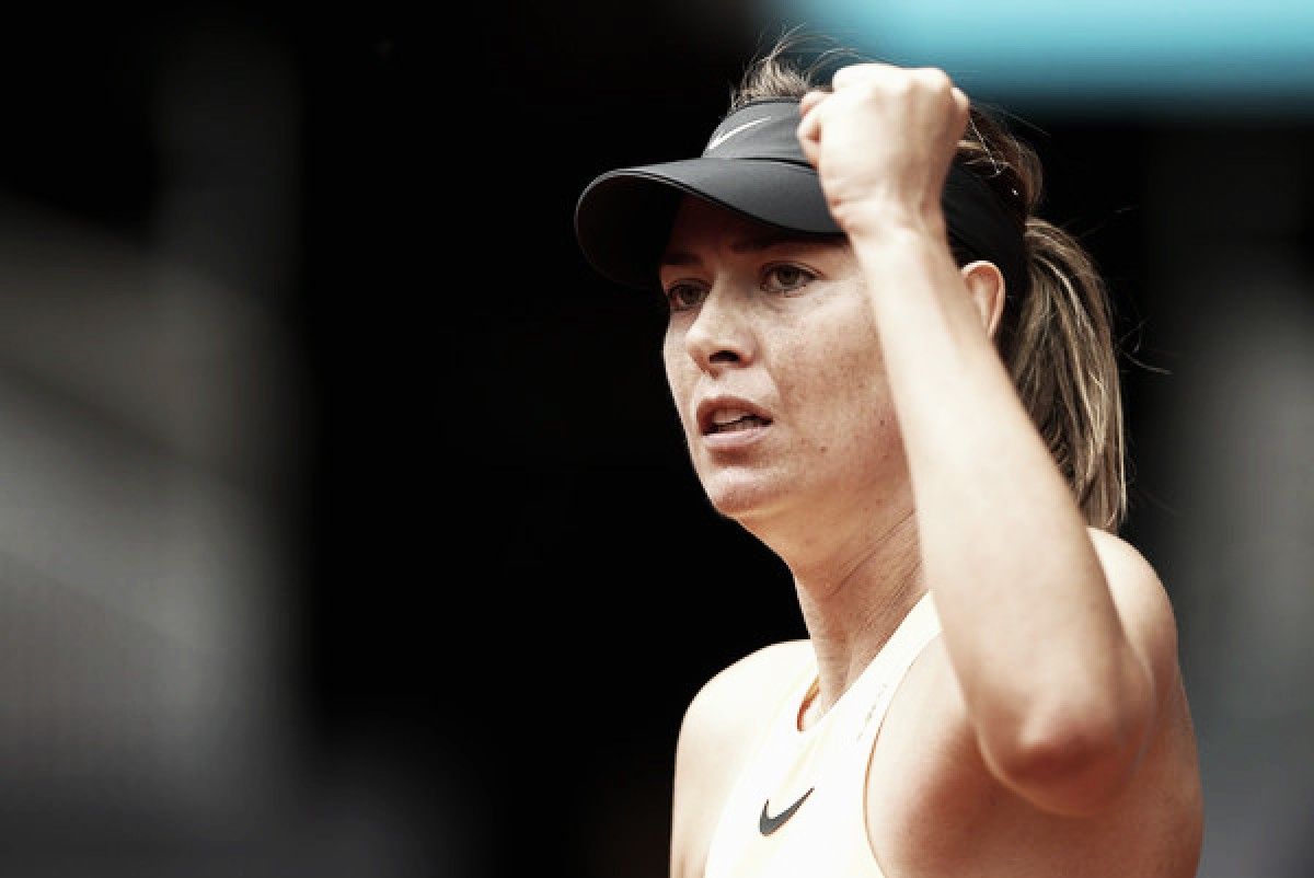 WTA Madrid: Sharapova overcomes huge scare, storms past Begu in straight sets