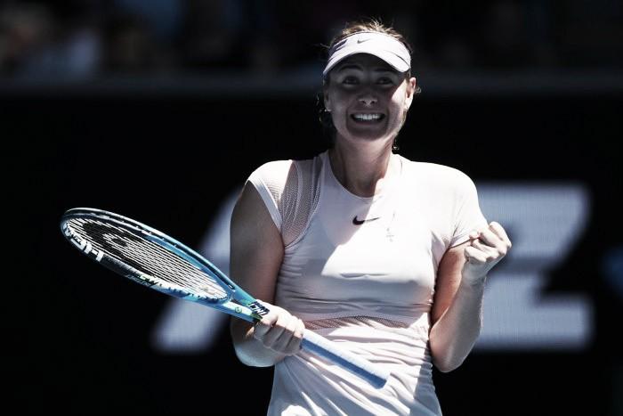 Australian Open: Maria Sharapova into the second round after defeating Tatjana Maria