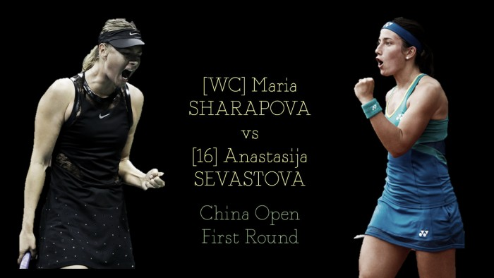 WTA Beijing first round preview: Anastasija Sevastova vs Maria Sharapova