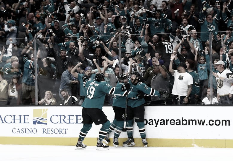 Sharks y Bruins clasificados para segunda ronda en el séptimo y definitivo partido