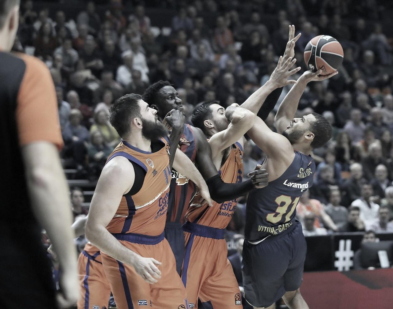 Previa Valencia Basket - Kirolbet Baskonia: un duelo en igualdad de condiciones