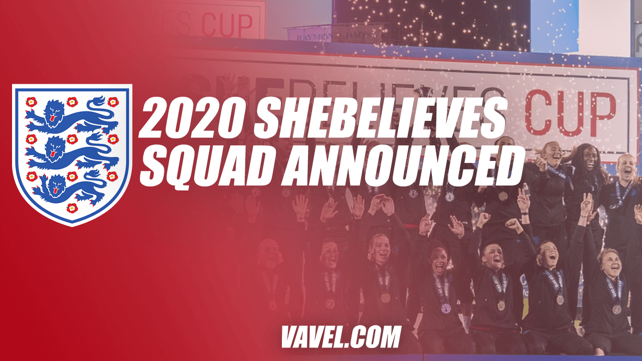 2020 England SheBelieves Cup squad announced: full list and tournament details