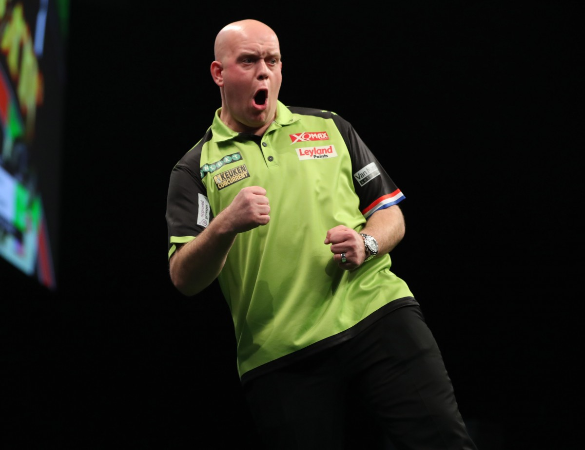 Michael van Gerwen continues to show he can handle the pressure as he extends his lead at the top of Premier League