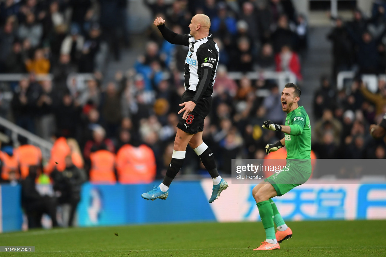 Jonjo Shelvey thought Newcastle earned their point against City