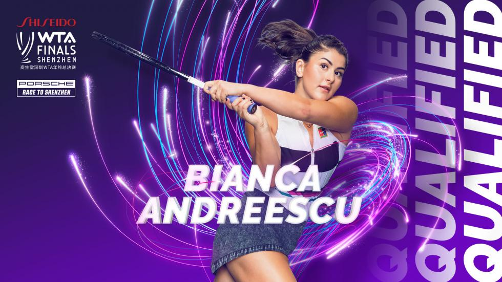 Bianca Andreescu qualifies for the WTA Finals