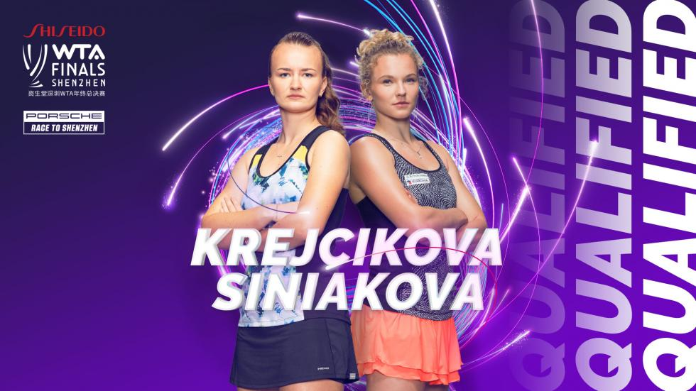 Barbora Krejcikova and Katerina Siniakova qualify for the WTA Finals