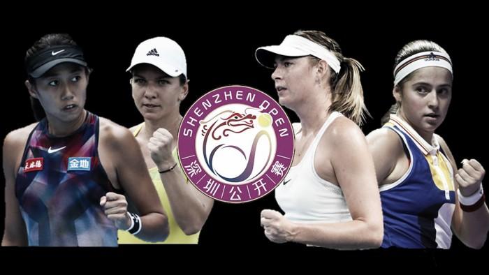 WTA Shenzhen: Simona Halep, Jelena Ostapenko and Maria Sharapova headline entry list