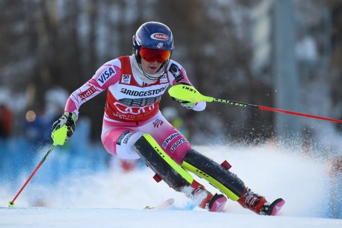 Sci Alpino, Sestriere - Slalom Speciale donne, 1° manche: Shiffrin al comando