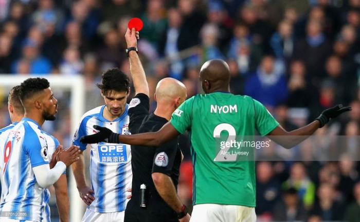 Christopher Schindler bemused by first yellow card against West Brom