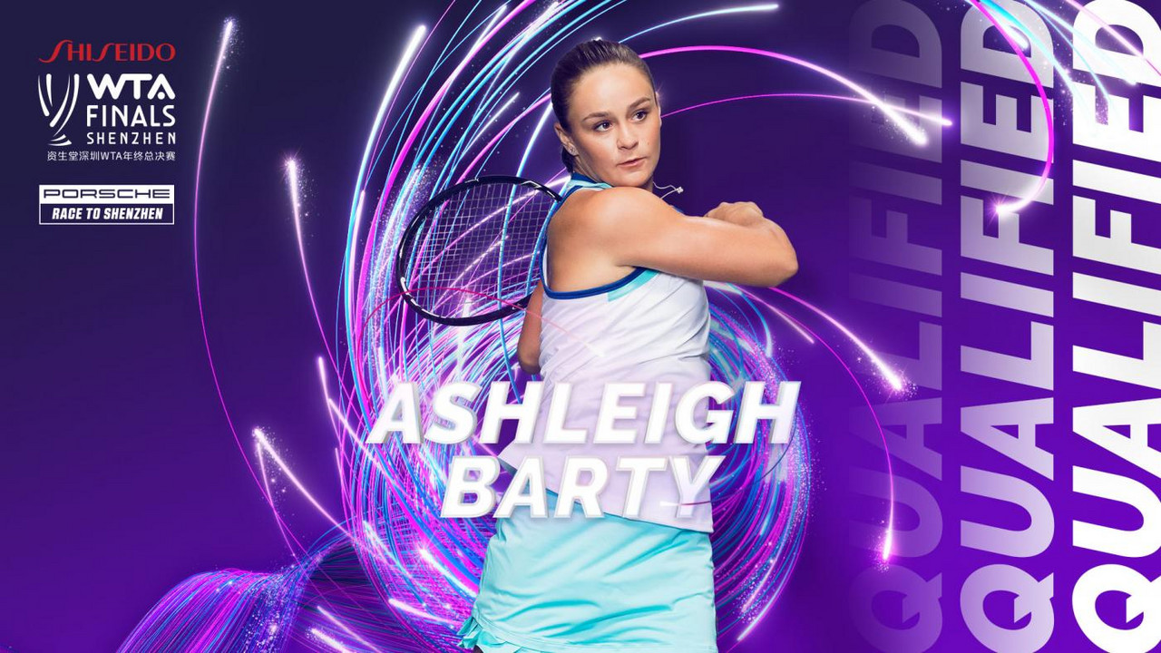 Ashleigh Barty qualifies for the WTA Finals
