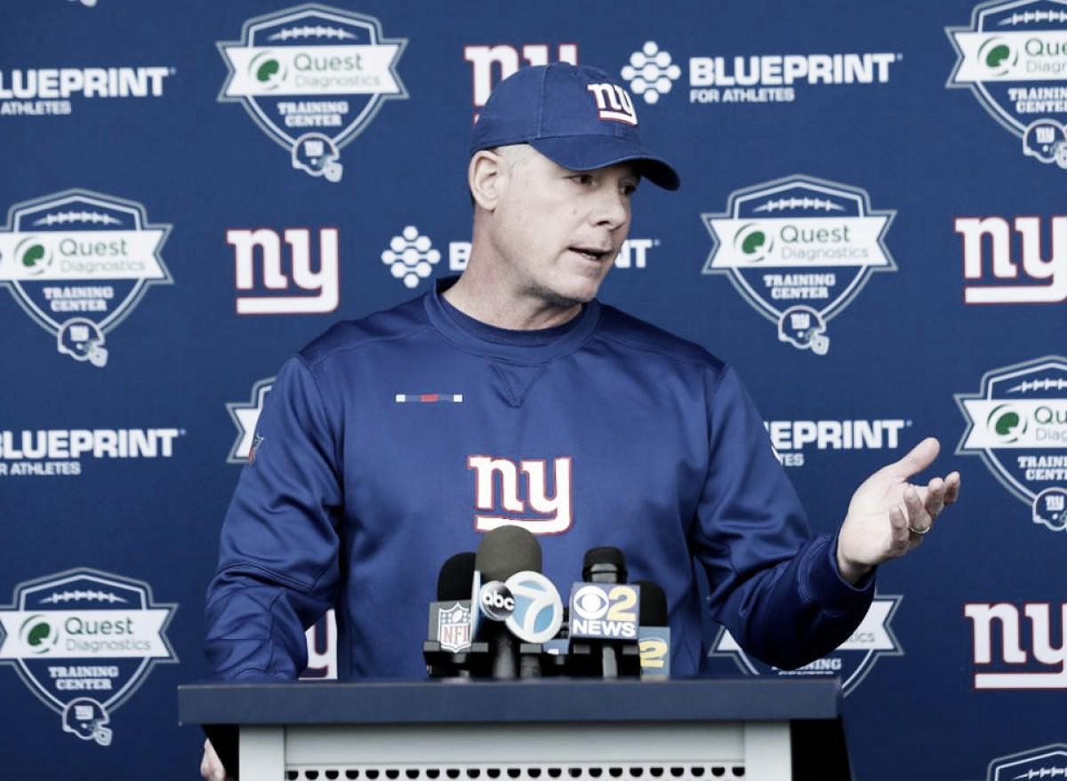 """Pat Shurmur enaltece vitória dos Giants: """"Apesar de dizermos que não vale muito, é bom ganhar"""""""
