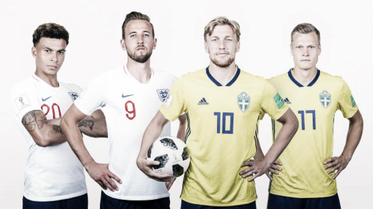 O que esperar do confronto entre Suécia x Inglaterra?