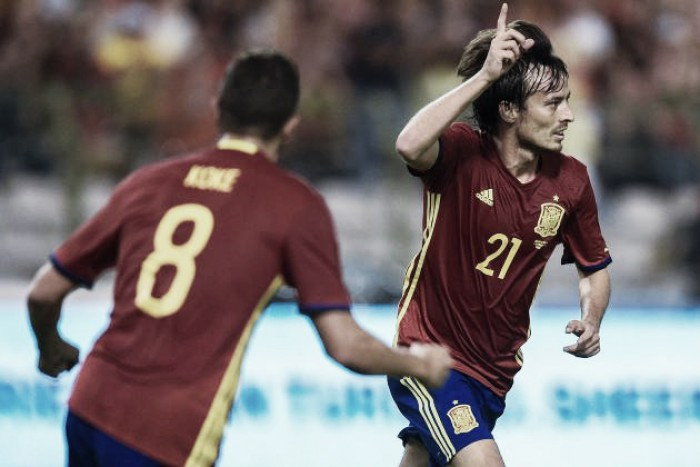 David Silva marca duas vezes e Espanha derrota Bélgica em partida amistosa