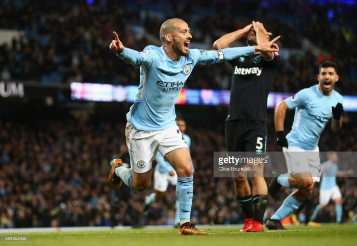 Manchester City 2-1 West Ham United: Silva grabs winner as City pounce late once more