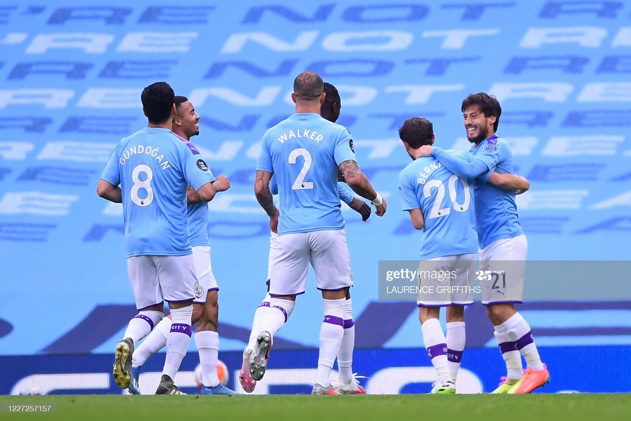 Manchester City 2-1 Bournemouth: City edge past brave Bournemouth thanks to Silva masterclass