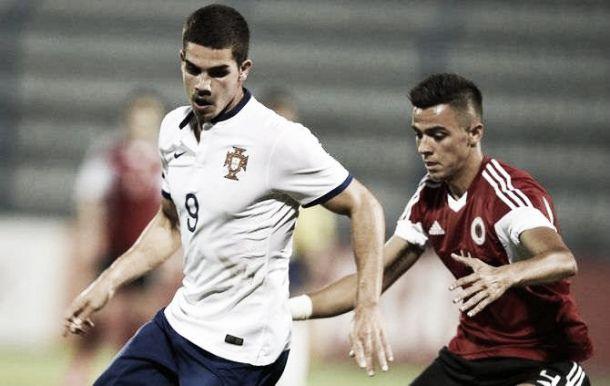 Sub-21: André Silva faz 'hat-trick' na goleada de Portugal diante da Albânia