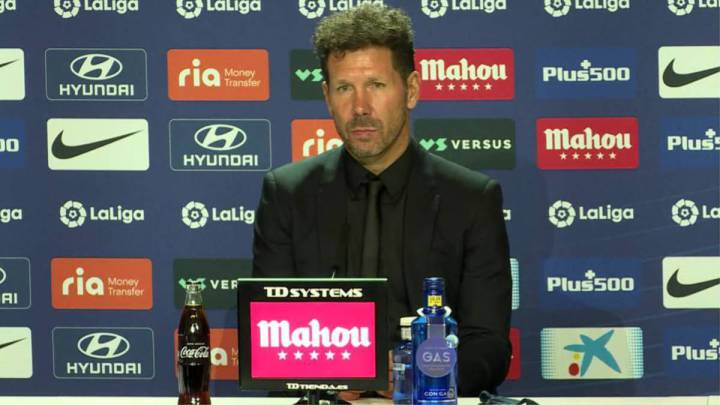 Simeone en rueda de prensa, Vía: As.com