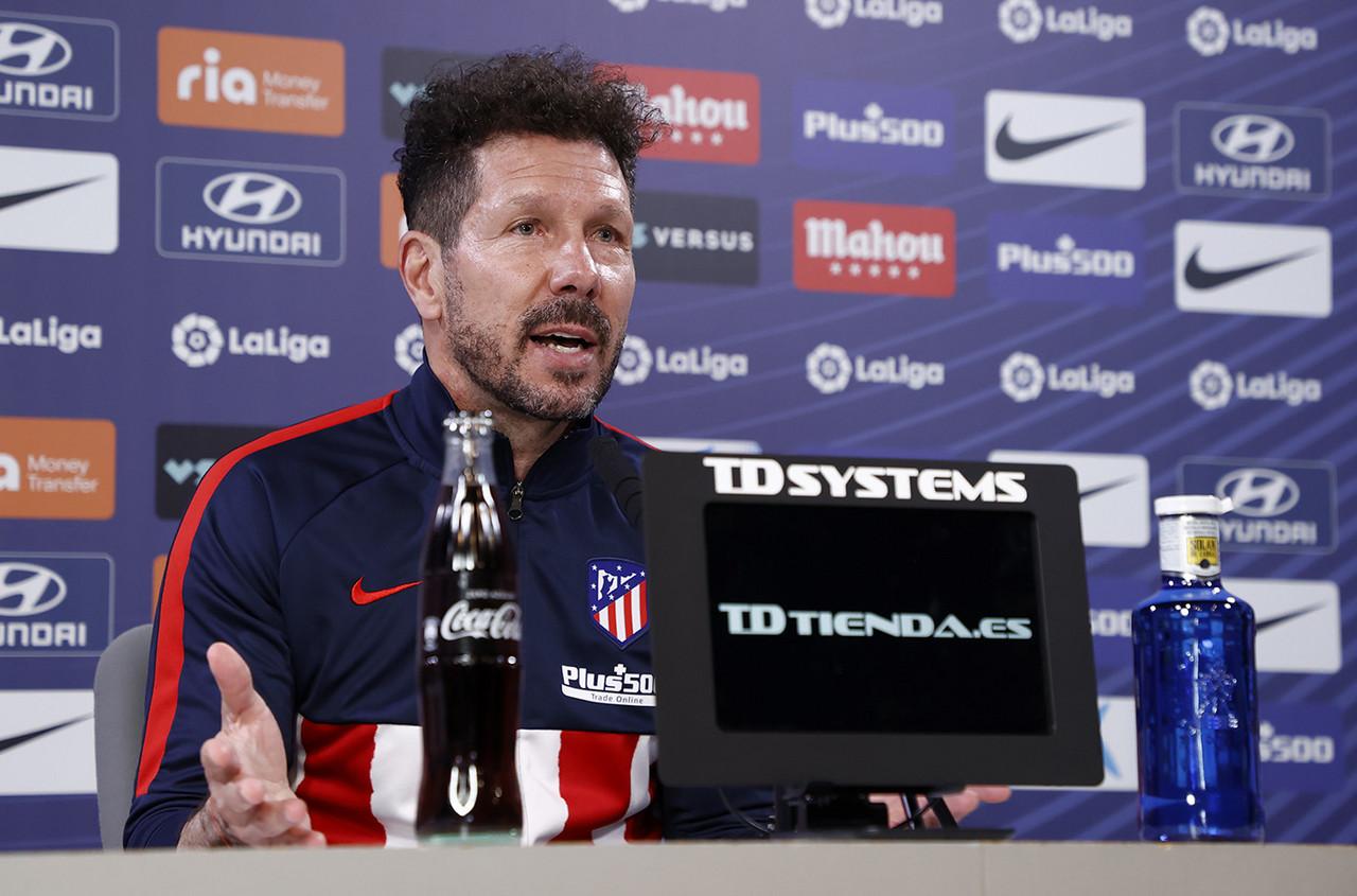 """Simeone: """"Tratamos de buscar el equilibrio entre la fase anotadora y defensiva"""""""
