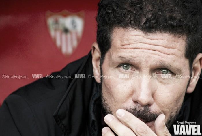 Simeone enaltece Atlético de Madrid mesmo após derrota para Sevilla