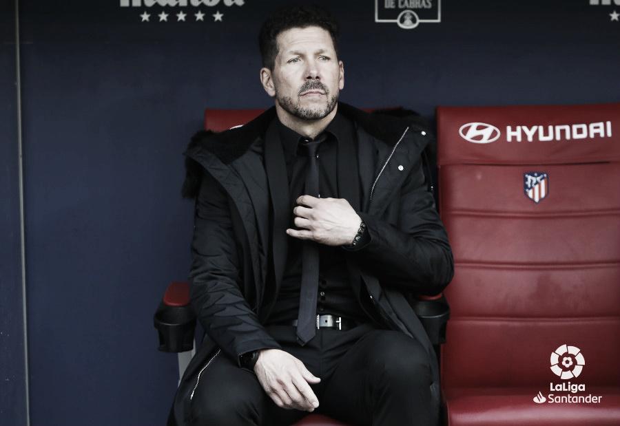 """Simeone: """"No hay que pensar tanto y sí apretar, la Liga está apretada en todos los sectores"""""""