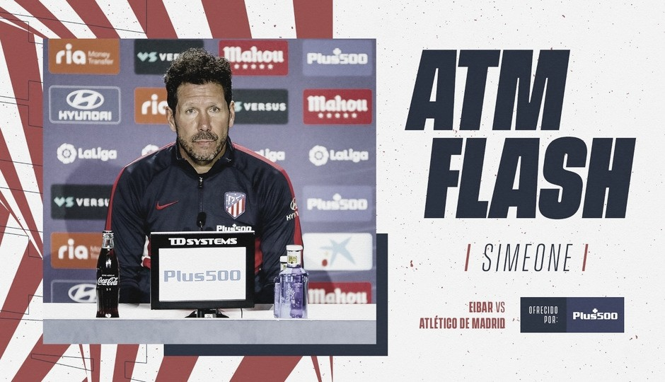 Diego Pablo Simeone en la rueda de prensa / Fuente: Atlético de Madrid