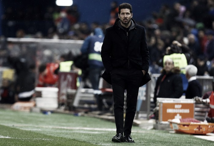 """Simeone: """"El empate fue justo, nos faltó cont ..."""