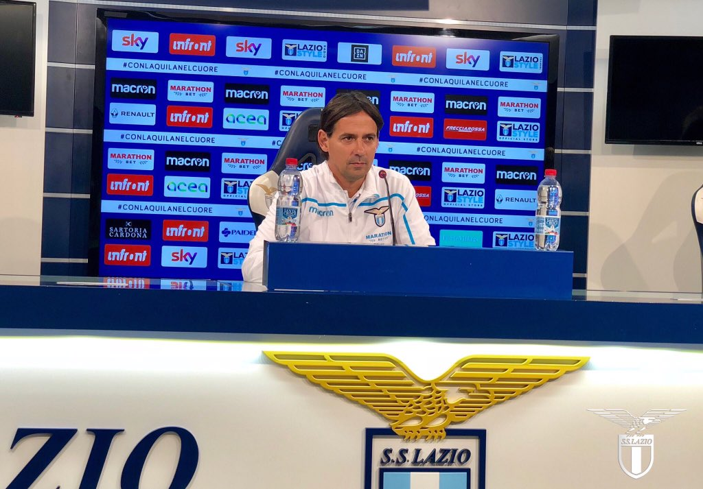 """Lazio, Inzaghi in conferenza: """"Ho un gruppo maturo, domani servirà concentrazione"""""""