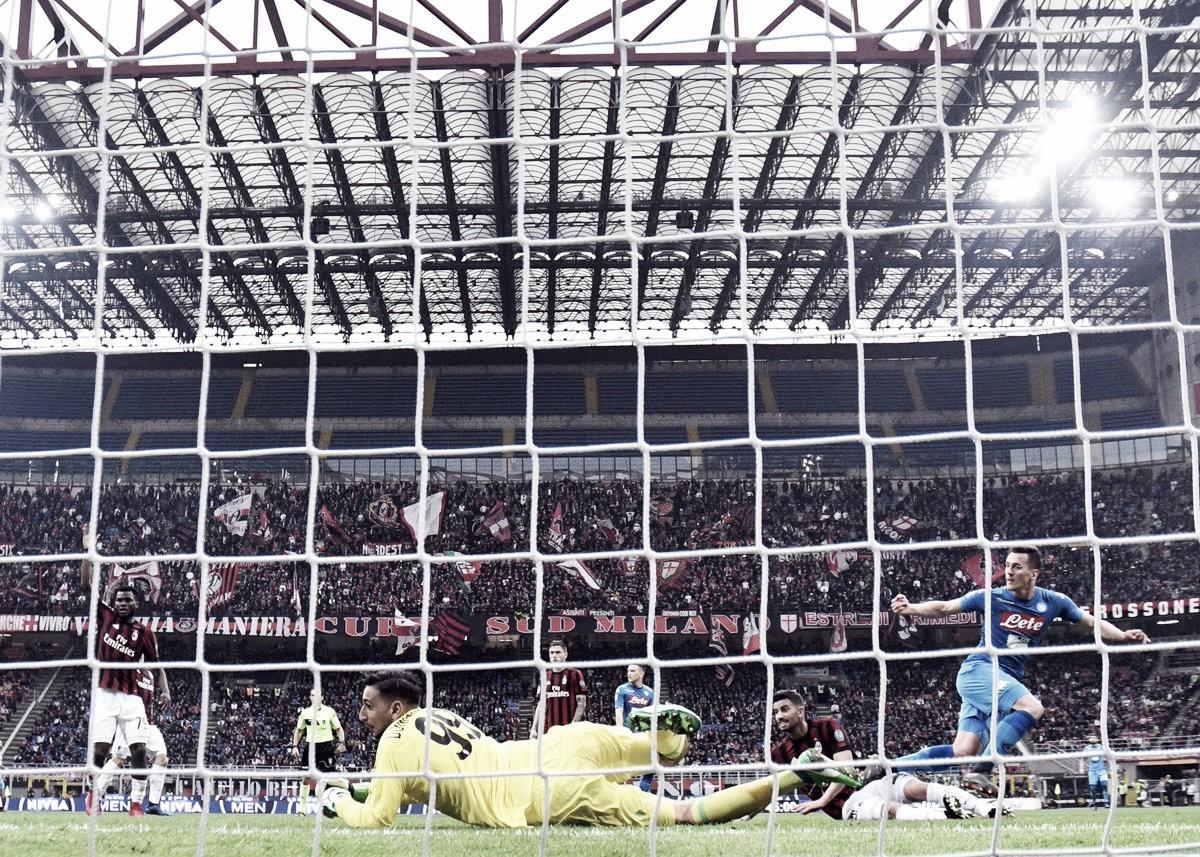 Milan y Napoli igualaron sin goles