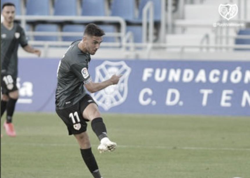 Andrés Martín en el partido ante el Tenerife | Foto: Rayo Vallecano SAD