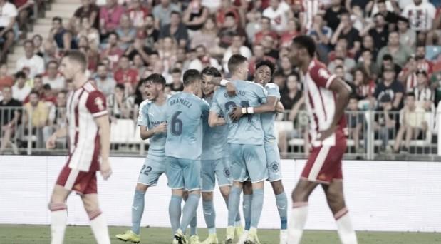 El Girona FC celebra el gol de Gual<br>Foto realizada por el Girona FC