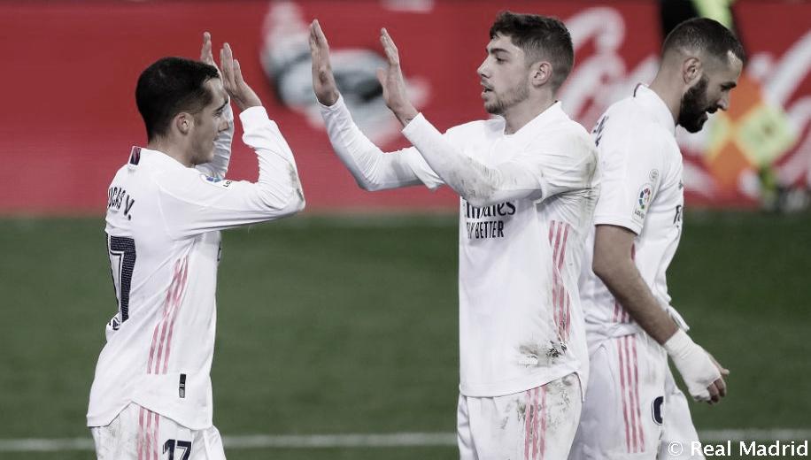 Valverde en un encuentro | foto: Real Madrid CF