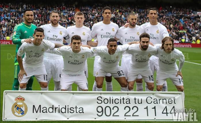 Real Madrid - Athletic de Bilbao: puntuaciones Real Madrid, jornada 24 de la Liga BBVA