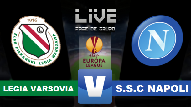 ResultadoLegia de Varsovia vs Nápoles en Europa League 2015 (0-2)