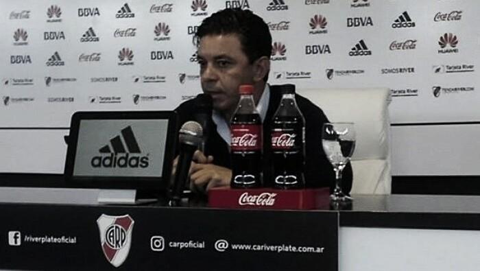 """Gallardo: """"River es un club muy grande como para pensar en irse"""""""