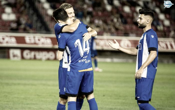 Cristian Santos salva el resultado del Alavés en Soria