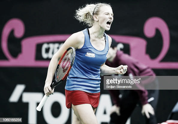 Fed Cup: Czech Republic claims 3-0 win with Katerina Siniakova outlasting Sofia Kenin in marathon thriller