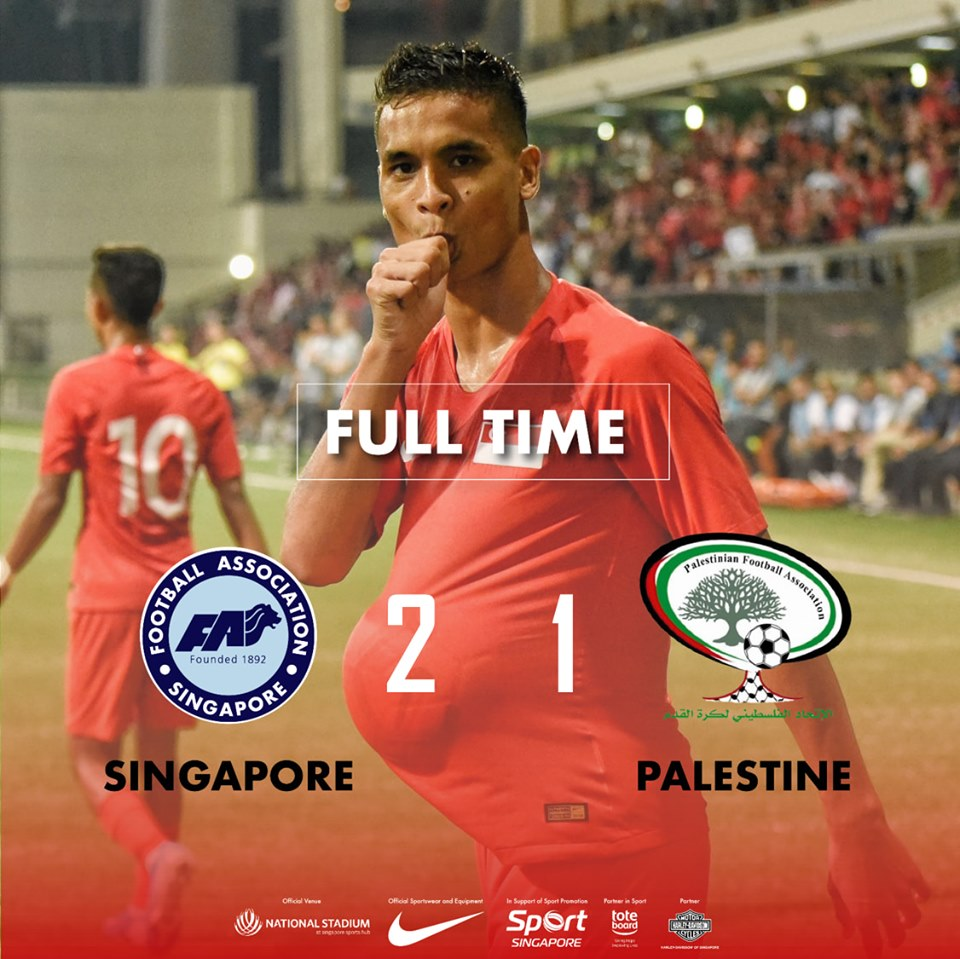 Defensive duo do the damage as Singapore sink Palestine