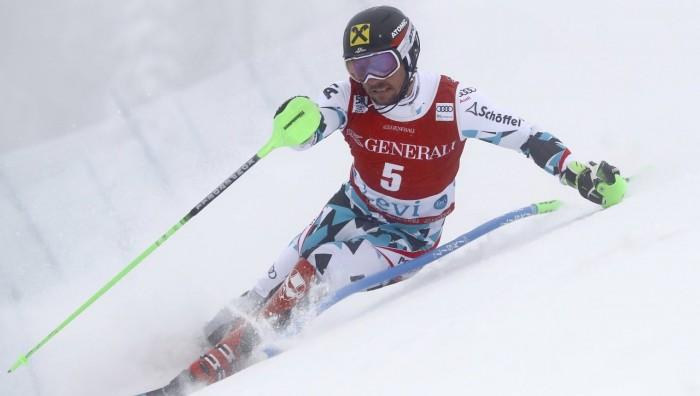 Sci Alpino - Levi, slalom speciale maschile 1° manche: Hirscher al comando