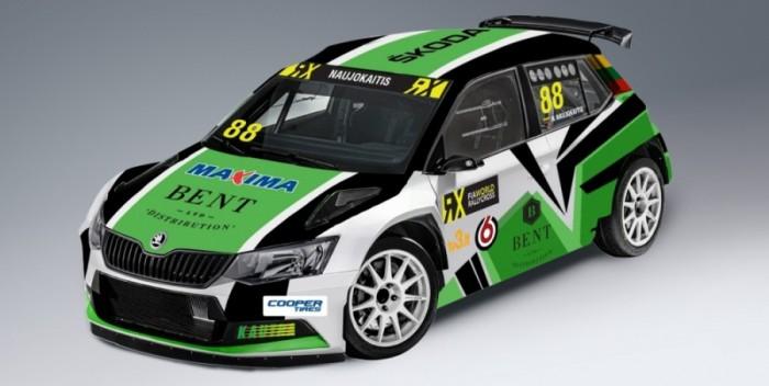 Nerijus Naujokaitis y su Skoda Fabia se apuntan al Mundial de Rallycross