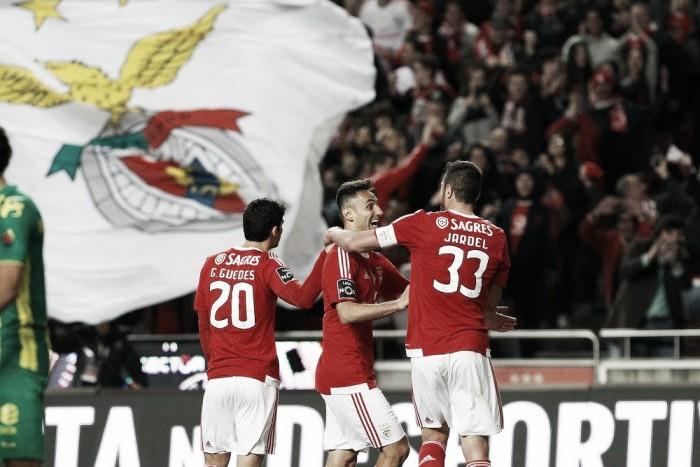 Benfica x Tondela: Águias inspiradas recuperam a liderança com expressivos 4-1