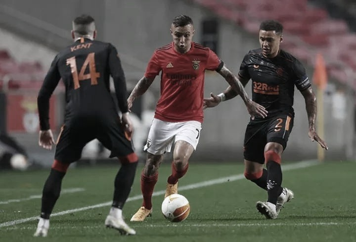 Benfica 3 a 3 Rangers (UEFA/Divulgação)
