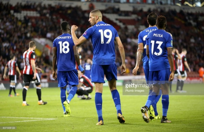 Sheffield United 1-4 Leicester City: Islam Slimani bags brace topowerFoxes beyond Blades