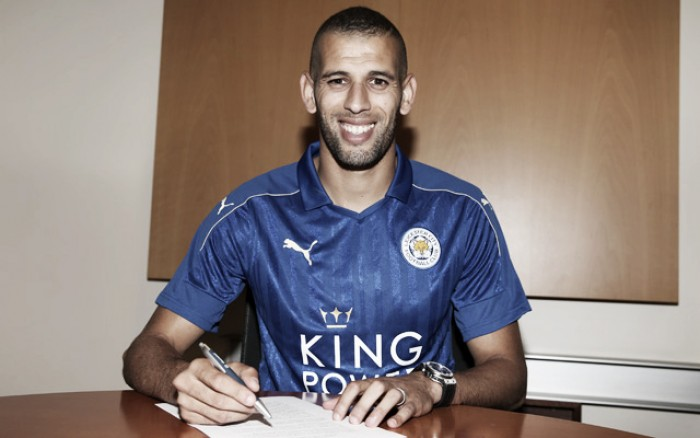 Leicester City smash transfer record to complete signing of Algerian striker Islam Slimani