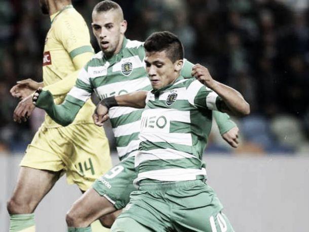 Sporting: hipotético 4-2-3-1 na forja com Montero a 'avançado sombra'?