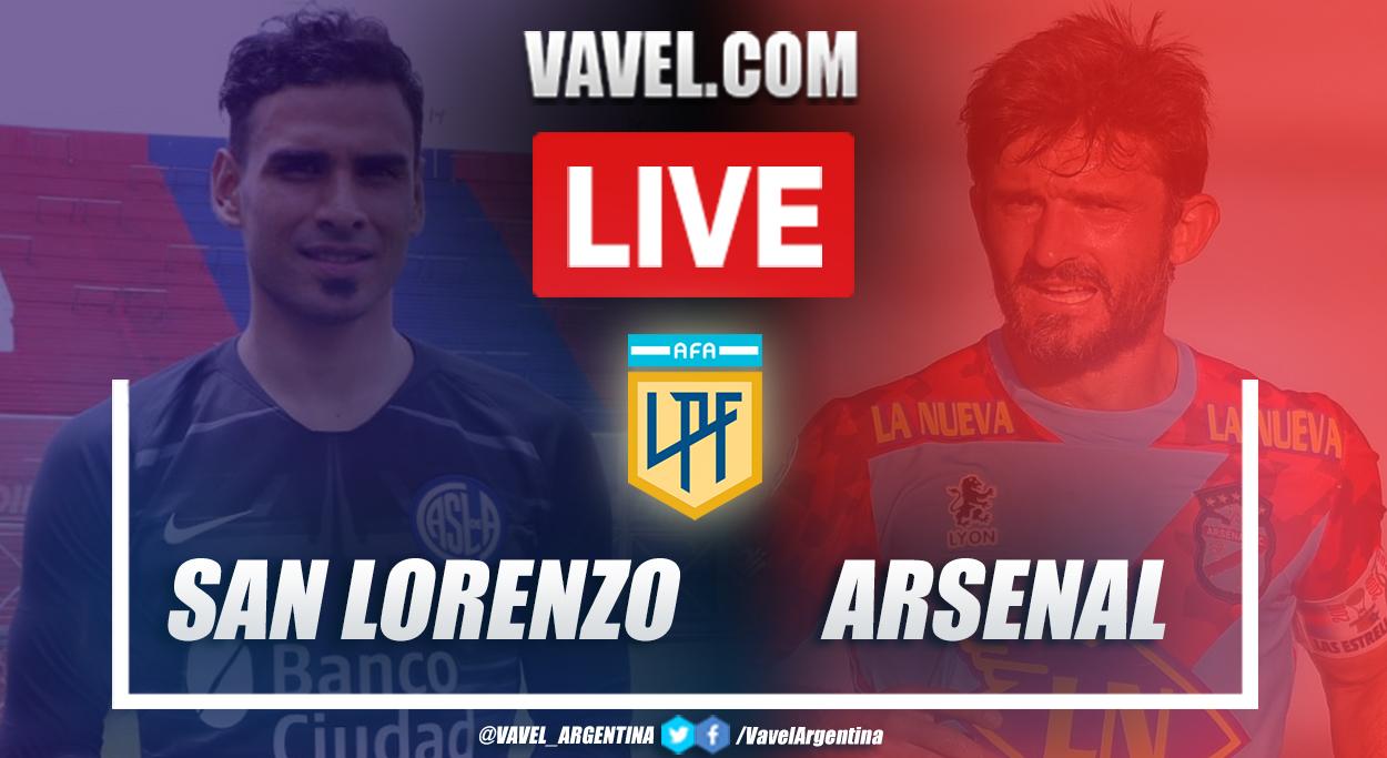 Resumen San Lorenzo vs Arsenal (2-1) en la fecha 1 por Copa de la Liga Profesional