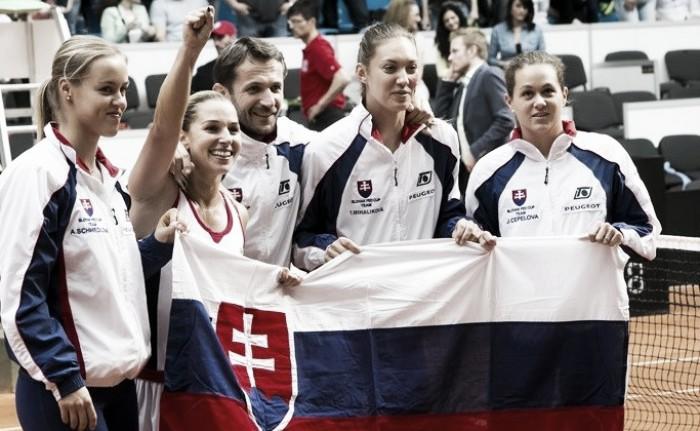 Fed Cup: Dominika Cibulkova ends Canadian comeback for Slovakian victory