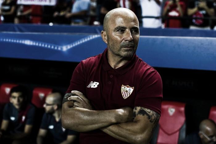 """Sampaoli exalta atuação do Sevilla após triunfo contra Lyon: """"Fez o melhor que vimos até agora"""""""