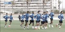 Sesión de recuperación tras el enfrentamiento contra el Deportivo