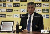 """Quique Setién: """"Hemos podido ganarle al Sevilla"""""""