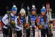 Biathlon, Kontiolahti 2015: Italia di bronzo nella staffetta femminile, oro Germania